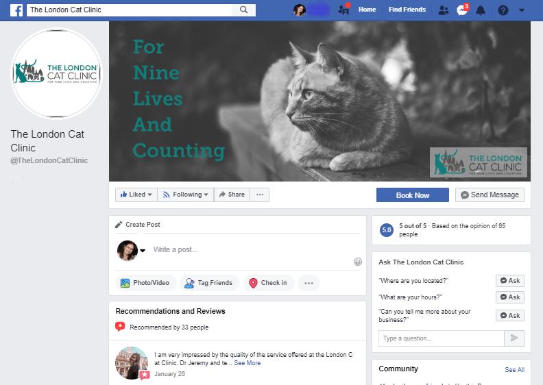 The London Cat Clinic Facebook Marketing